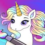 Animated Glitter Coloring Book – My Little Unicorn