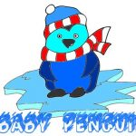 Baby Penguin Coloring