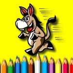 BTS Donkey Coloring Book