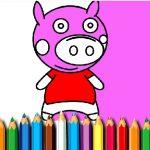 BTS Pig Coloring Game