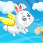 Easter Bunny Flying