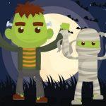 Vampires And Frankenstein Coloring