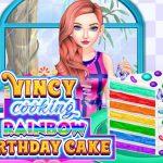 VINCY COOKING RAINBOW BIRTHDAY CAKE